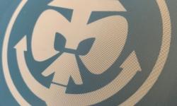Detail Sieb mit Logo